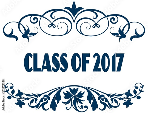 Class Of 2017 Blue Text Frames Stock Photo And Royalty Free Images