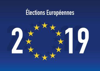 élection - Europe - élections Européennes - 2019 - drapeau - drapeau européen - union européenne