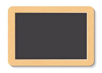 Vector blackboard or chalkboard. ARDOISE ÉCOLE FACE NOIRE. Tafel Schiefer.
