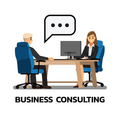 businessmen consulting