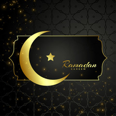 islamic ramadan kareem moon and star design