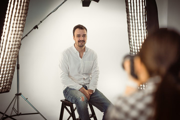 Professional photo shooting at the studio