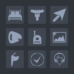 Premium set of fill icons. Such as fast, lunch, pointer, boy, arrow, hot, pillow, faucet, sound, bedding, image, water, picture, child, fun, mattress, communication, check, sign, musical, audio, music