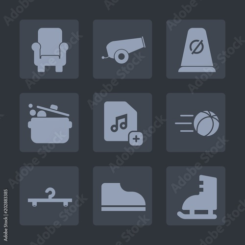 Premium set of fill icons  Such as file, road, white, street, food