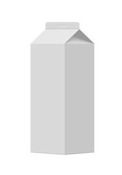 Mock up of milk or juice box.
