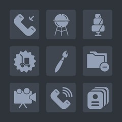 Premium set of fill icons. Such as dessert, warehouse, grilled, sign, call, id, doughnut, cooking, meat, sweet, hot, delivery, file, grilling, food, mobile, document, bakery, cupcake, card, identity