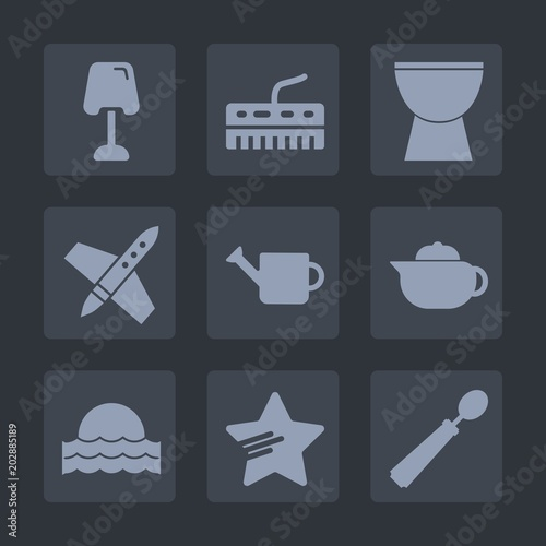 Premium Set Of Fill Icons Such As Breakfast Sign White Sun Can