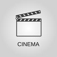 Cinema icon. Cinema symbol. Flat design. Stock - Vector illustration