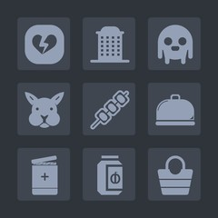 Premium set of fill icons. Such as easter, glass, medicine, kebab, cute, rabbit, alien, food, house, meat, style, service, urban, extraterrestrial, heart, building, sign, city, humanoid, fiction, ufo