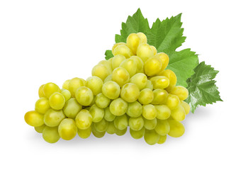 Green grape fruit isolated