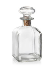 Old fashioned glass bottle