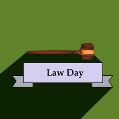 Illustration of USA Law Day background