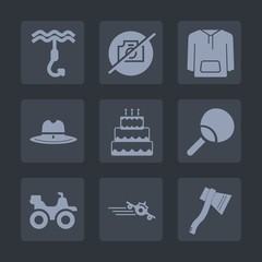 Premium set of fill icons. Such as western, west, sweet, clothing, wild, picture, quad, texas, tool, cake, clothes, style, hat, axe, jacket, metal, ping, travel, flight, cowboy, photo, equipment, hook
