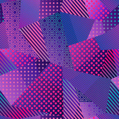 Neon color cloth seamless pattern