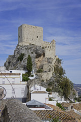 Spain, castle ruin in the municipality of Olvera, province of Cadiz on the Ruta de los Pueblos Blancos, White Towns Road