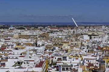 Spain, Andalusia, view over the city of Seville