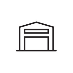 Warehouse icon Vector illustration, EPS10.