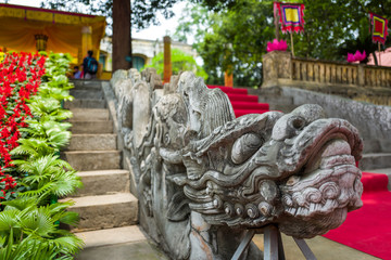 Dragon steps at Thang Long Citadel in Hanoi, Vietnam