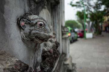 Statue on the streets of Hanoi, Vietnam.
