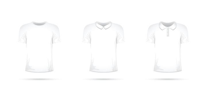a set of white t-shirts