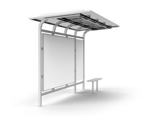 3D render bus shelter