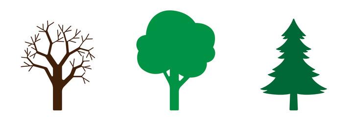 Symbol-Set - Bäume Fototapete