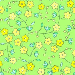 Spring garden flowers pattern