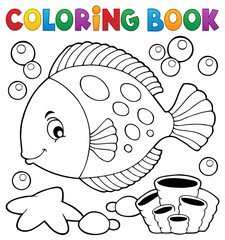Poster For Kids Coloring book with fish theme 7