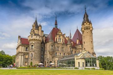 Fabulous castle in Moszna, near Opole, Silesia, Poland. Fototapete