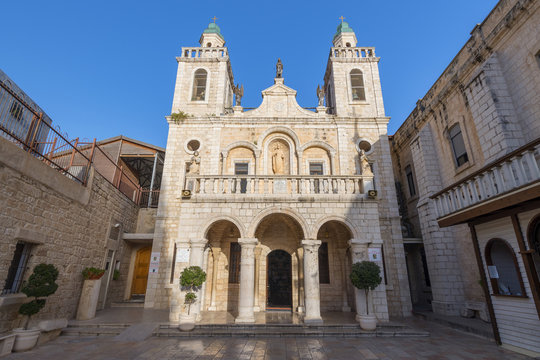 The Church at Cana in the Holy Land, built on the site of Jesus First Miracle, Israel.