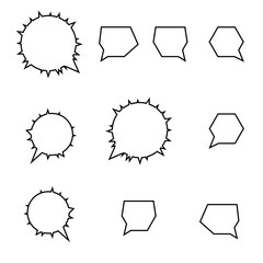 Set Thought bubbles. Place for text.  Design element.  Vector illustration. Icon.