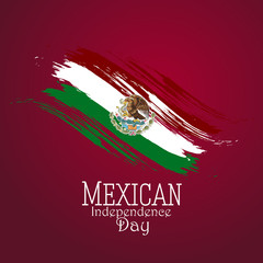 nice and beautiful abstract or poster for Mexican Independence Day with nice and creative design illustration.