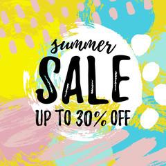 Vector illustration, Summer Sale banner