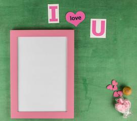 I love you frame