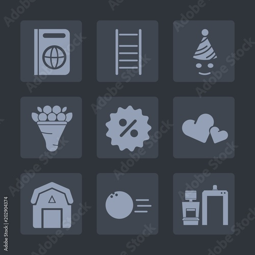Premium set of fill icons  Such as construction, birthday, document