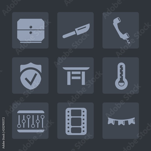 Premium Set Of Fill Icons Such As Secure Kitchen Cutlery
