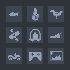 Premium set of fill icons. Such as lamp, service, coffee, photo, river, corn, horse, vegetable, happy, electric, luggage, meat, vegetarian, yellow, baggage, organic, hotel, light, shine, healthy, game