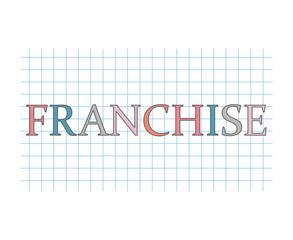 franchise concept- vector illustration