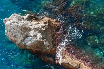 A rock in the sea, Amalfi coast, Italy