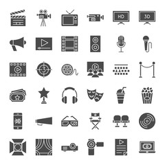 Cinema Solid Web Icons
