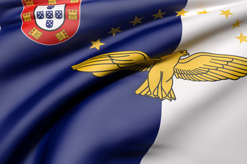 Azores flag waving