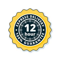 12 Hour Express Delivery illustration
