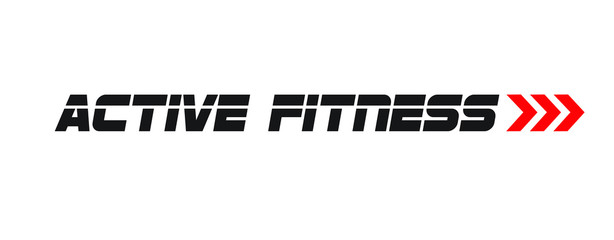 Active Fitness Sports Running Logo
