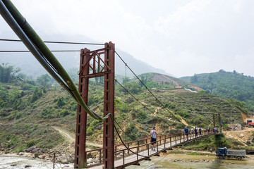 A bridge near Sapa, Vietnam.