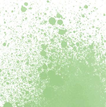 green watercolor splatter background pattern, vector illustration