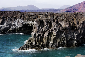 Incredible view at the coastside of Lanzarote - Canary Islands - Spain