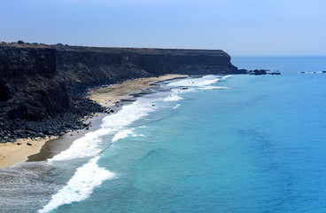 Incredible view at the coastside of Lanzarote. Canary Islands. Spain