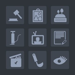 Premium set of fill icons. Such as image, write, legal, face, text, sweet, hammer, lawyer, pump, cupcake, edit, chocolate, screen, bear, judge, beauty, photo, cookie, dessert, ladle, toy, girl, muffin