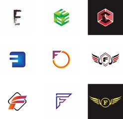 E, F, EF letter logo design for graphic, typography and creative font