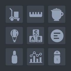 Premium set of fill icons. Such as comb, kid, parachuting, app, mobile, tea, box, food, cone, button, care, pepper, hairbrush, bowling, hot, sky, package, breakfast, salt, teapot, extreme, graph, ball